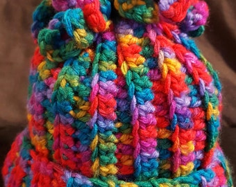 Multi Color Crochet Hat
