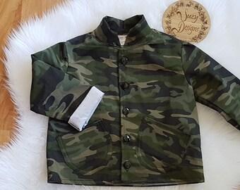 Camo Denim Jacket size 3