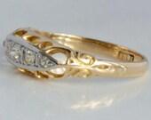 Vintage 18 k gold ring wi...