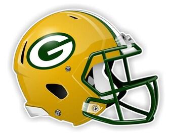 Green Bay Packers Football Helmet Decal / Sticker Die cut