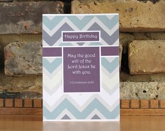 Birthday card | Bible verse card | Christian card | religious card | handmade card | cards uk | religious birthday card |