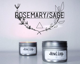 Massage HOWLING candle / wax from soy / wooded accents, organic, vegan 100ml