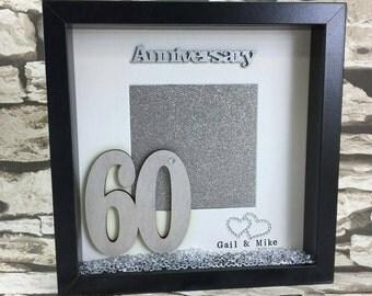 Anniversary Gift Alternative Photo Frame Shadow Box Frame - Home Decor