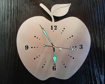 Wall clock Apple stainless steel Mural art watch design wall clock wallclock Apple