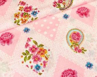 Cotton pink Petunia Paisley (8,90 EUR / meter)