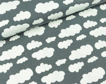 Cotton Jersey Vicente clouds grey (14.90 EUR / meter)