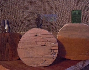 Reclaimed Wood Mini Pumpkins