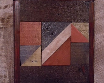 The Rustic Quilt Block, Wood Display,  Wall Decor,  Mantle decor,  Reclaimed wood,  Art