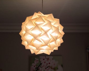 Suspension/lamp star paper color ecru/ivory cream