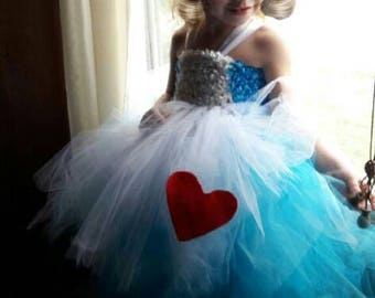 Alice in wonderland tutu costume party dress