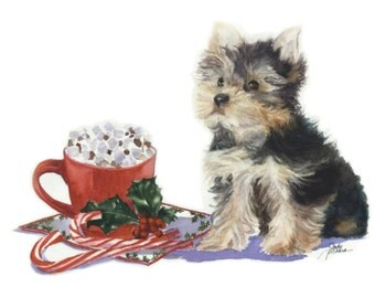 Yorkshire Terrier Christmas Card, Yorkshire Terrier Holiday Card, Greeting Card Yorkshire Terrier, Greeting Card, Holiday Card, Christmas