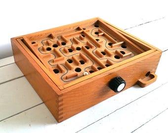 Vintage wooden concentration game
