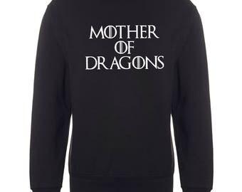 Funny Mother of Dragons Sweatshirt Sweater Jumper Khaleesi Game of Thrones  Tv Show jumper