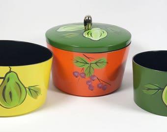 Japanese Lacquerware Nesting Container Set - Circa 1970s