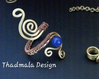copper and brass wires ring