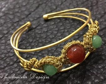 brass wires bracelet