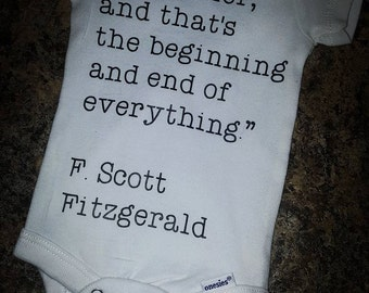 Baby Clothes/ Newborn Clothing/ Literary Quote/ Baby Shower Gift/ Baby Announcement