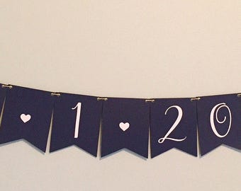 Custom Paper Flower Banner - Wedding/Bridal/Birthday
