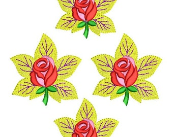 Flower embroidery design,Charming lotus embroidery design – 2 sizes - downloadable,flower embroidery pattern,paadar club,INSTANT DOWNLOAD
