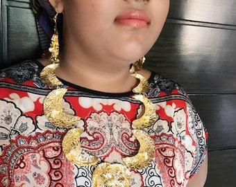 Fulani necklace, tribal jewelry