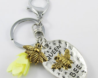 Queen Bee Charm Tassel Keychain Keyring 105mm
