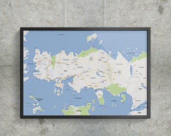 Modern Essos Map - Poster, Game of Thrones, Google Maps