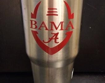 The University of Alabama Crimson Tide Football 20 oz & 30 oz Ozark Trail Tumbler NEW Roll Tide also in White