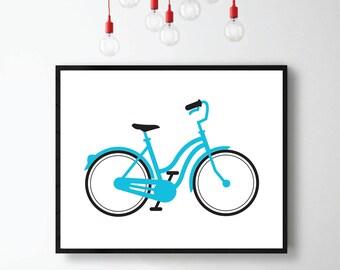 Bicycle Print, Affiche Vélo, Affiche Bicyclette, Transportation Print, Bicicleta Print, Digital Download, Kids Room, Affiche Chambre Enfant
