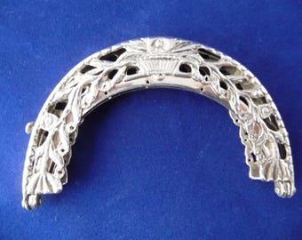 Napoleon time: Dutch Silver purse / bracelet with double closure