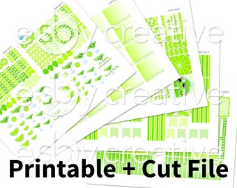 Sale - 25% Off! Margaritas Theme - Weekly Sticker Kit Printable for Erin Condren Horizontal - HWK-024 - INSTANT DOWNLOAD