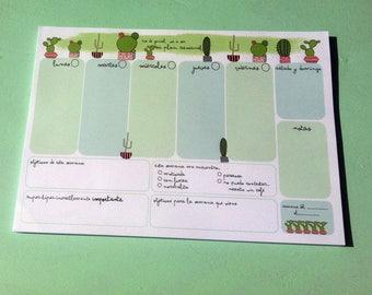 Weekly Planner 'Cactus'
