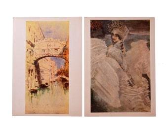 1 Lot Quantity 16 Vintage Postcards Set Artist Vrubel 1976