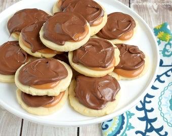 salted caramel twix cookies