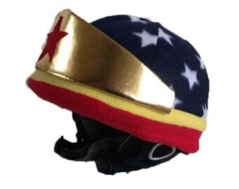Wonder Woman Helmet Cover