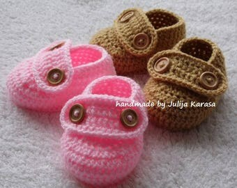 Baby booties, baby shoes, handmade newborn boots, loafers for baby, crochet baby shoes, crochet baby boots, two pairs of baby shoes
