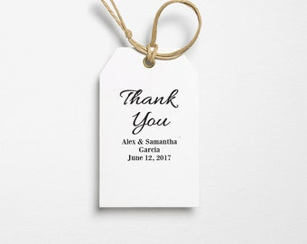 Wedding Favor Tag - Thank You Tag - Thank You Template - Text Editable Tags - Thank You PDF - Editable Template