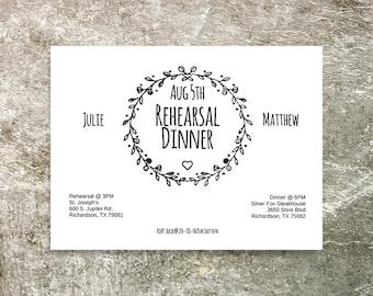 Rehearsal Dinner Invitation - Rehearsal Dinner - Invitation Template - Editable Wedding Stationery - Dinner Invite - Printable Invitation