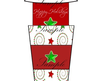 Christmas Gift Card Holder-Christmas Money Card Holder-Coffee Tumbler Gift Card Holder-Christmas Coffee Tumbler Gift/Money Card Holder