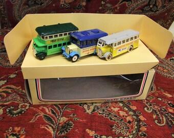 vintage Lledo Omni Bus Set