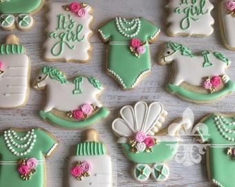 1 Dozen It's A Girl Sugar Cookies