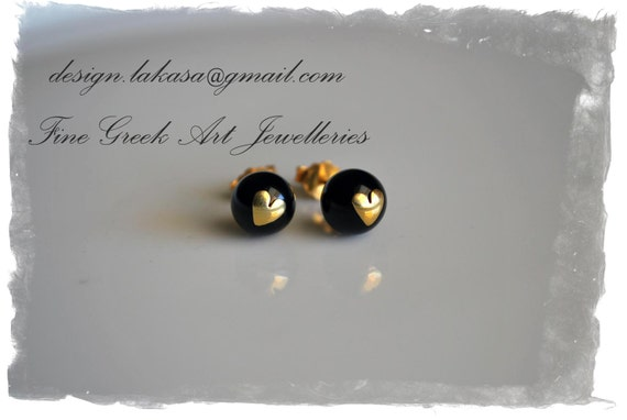 Heart Pearls Earrings Silver 925 Gold-plated Jewelry Lakasa e-shop