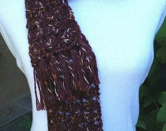 New brown Scarf crochet