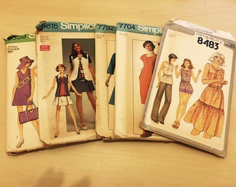 Simplicity 1970's vintage sewing patterns