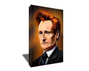FREE SHIPPING Conan O'Brien Team Coco Portrait Canvas Art