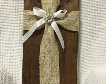 Fabric Cross wood Chunk #1