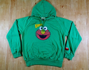 20% OFF Vintage ELMO Sesame Street Famous Cartoon Hoodie Sweatshirt
