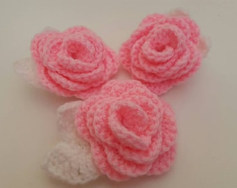 Crochet Rose Pattern No Sew : No Sewing Required! Crochet Rose PATTERN from ...