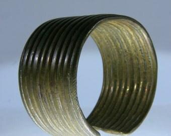 Bronze Bangle Bracelet, West Africa / Daoule Akan Bronze, Ivory Coast, bronze manilla