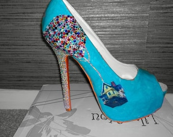 decoupage heels made to order shoes