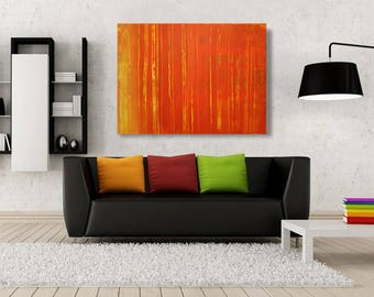 Original Abstract, Acrylic Painting, Large Stretched Canvas, FREE SHIPPING!